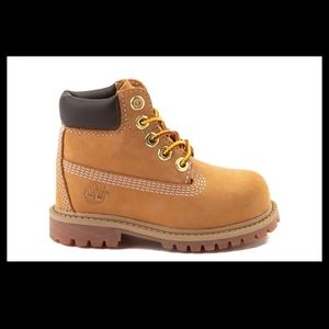 Timberland Toddler Lace Up Wheat Boots Size 8
